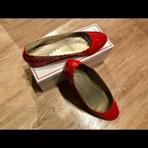Coach Carsion Patent Flat lovely Red